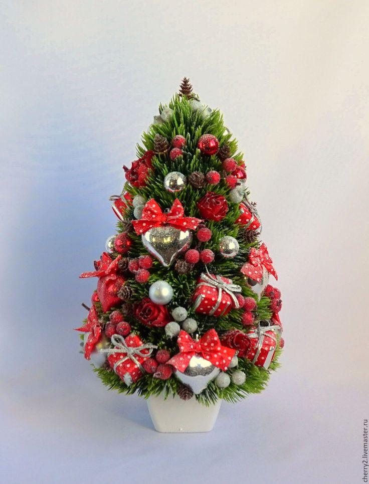 Купить Новогодняя Искусственная Елка Елочка Красный Серебро - серебряный, красный зеленый