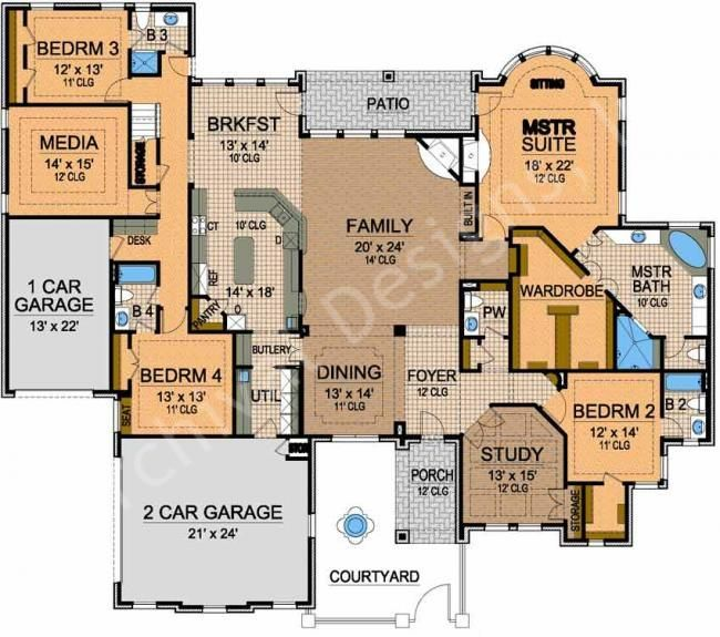 d8f65731075166d936208eddd9b1f17d house blueprints media rooms 246 best house floor plans images on pinterest,House Plans For Big Families