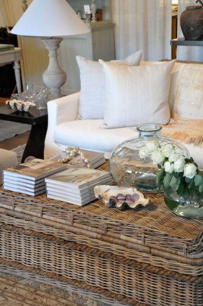 Love this lookCoffe Tables, Decor, Living Spaces, Outdoor Living Room, Coffeee Table'S Velvet, Coastal Living, Baskets Coffee, Coffee Tables Velvet, Tables Style