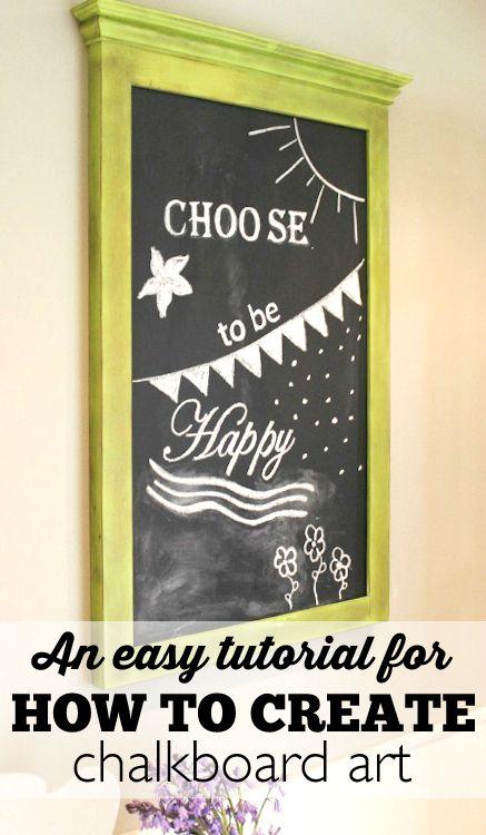 How to Create Chalkboard Art   – Best of Pinterest