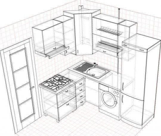 httpsartpro100 small kitchensplanscuisinecooking - Plans Cuisine