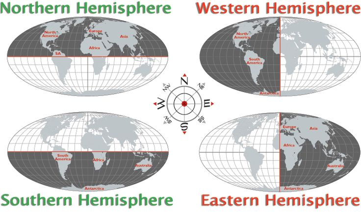 Hemisphere Map - Map of Western Hemisphere, Northern ...