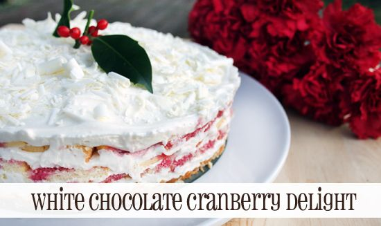 White Chocolate Cranberry Delight Cake recipe #IDBaking via Queenbee Coupons