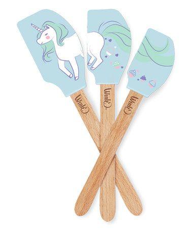 Blue Unicorn Spatula Set