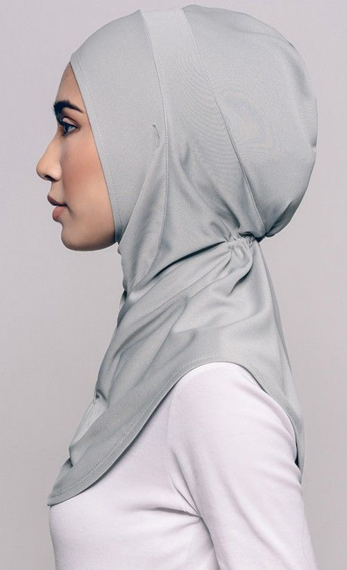 Najwaa Sport Fit Hijab in Grey | FashionValet