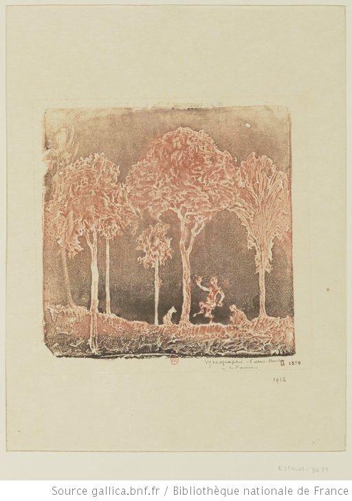 Le faune : [estampe] / gypsographie Pierre Roche
