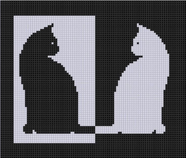 Cat Reverse Cross Stitch Pattern