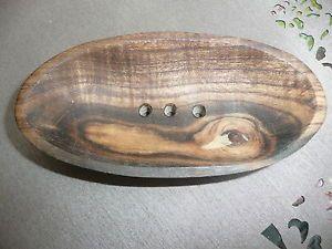 Seifenschale Holz Pistazienholz oval ca.12 cm