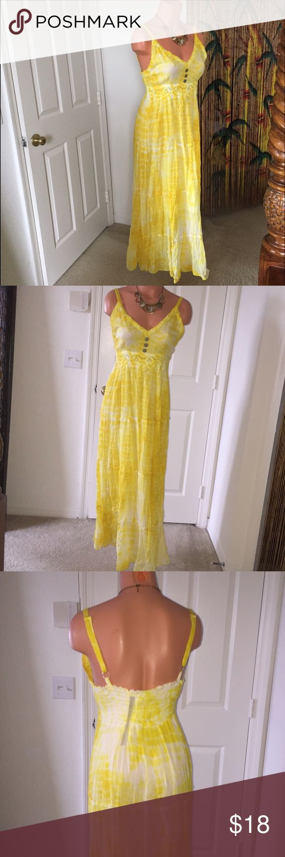 🔆Jessica Taylor🔆-Gorgeous Maxi Dress 100% Cotton-Flowing Maxi Dress - Adjustable Straps and pretty buttoned detailed front Jessica Taylor Dresses Maxi