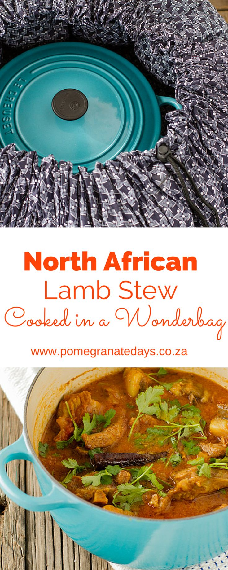 A Wonderbag works exactly like a crockpot or slow cooker without using electricity. This recipe for a meaty North African Lamb Stew will cook slowly in the Wonderbag or crockpot while you are busy during the day and reward you with a hot, flavourful dinner ready for the table.