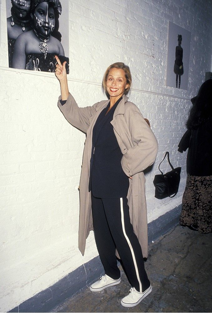 The fact that this is literally an outfit you can find on any street style round-up today proves that Lauren Hutton is a goddess and that we're all just band-wagoners.