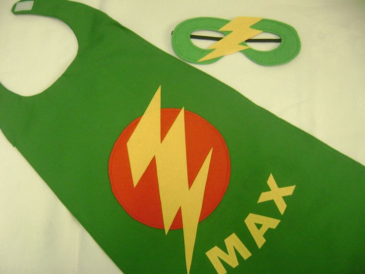 PERSONALISED SUPERHERO CAPE AND MASK