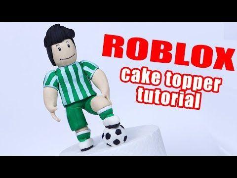 How to make Roblox cake topper | Fondant Roblox Human Soccer