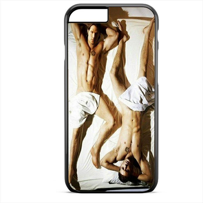 Supernatural Sam And Dean Sexy In Bed TATUM-10374 Apple Phonecase Cover For Iphone SE Case