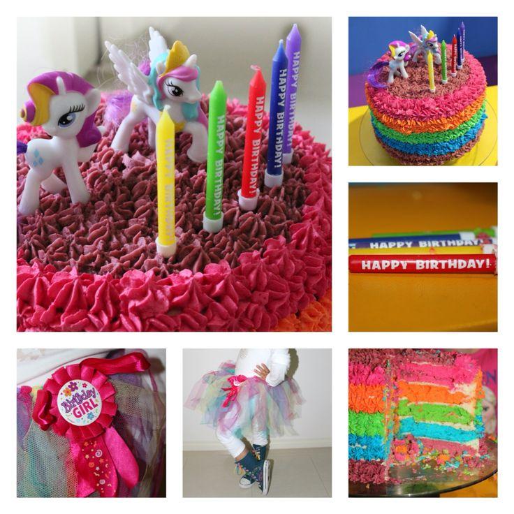Rainbow cake for my colourful girl