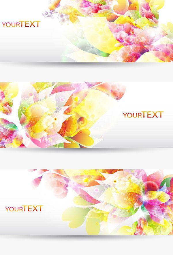 Colorful Halation banner vector 01