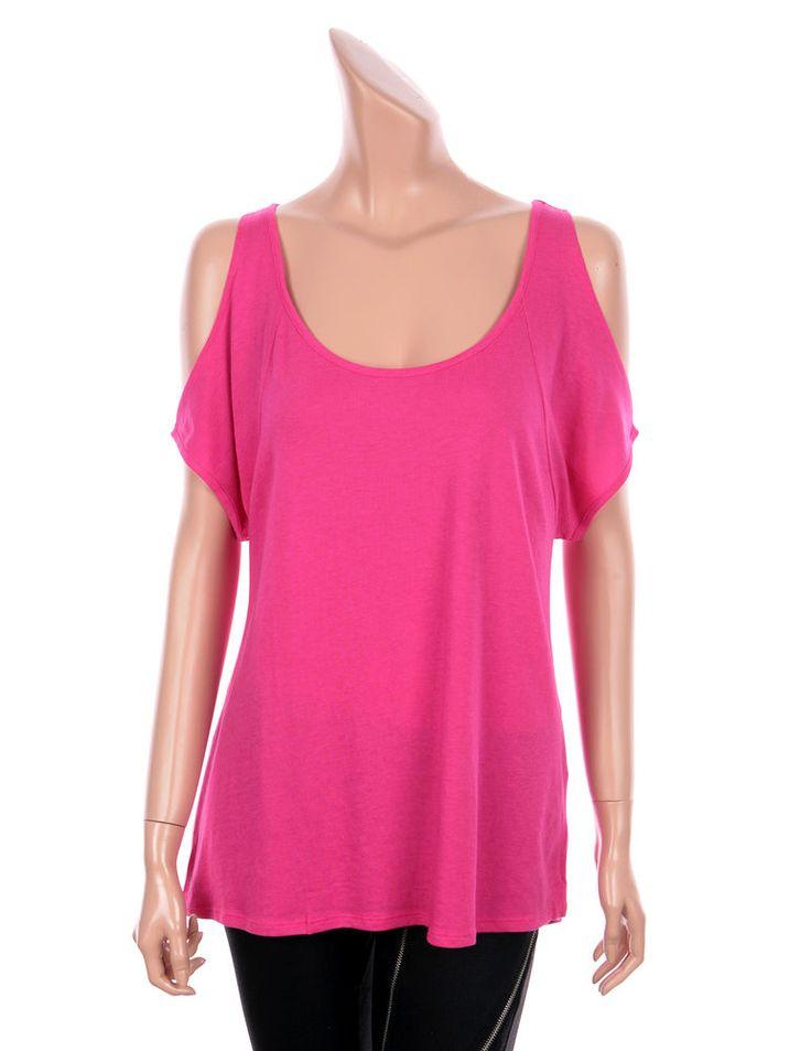 VICTORIA'S SECRET Sexy Cut Out Shoulder Short Sleeve Tees Tops Date Night Pink #VICTORIASSECRET #Cutoutshouldertee