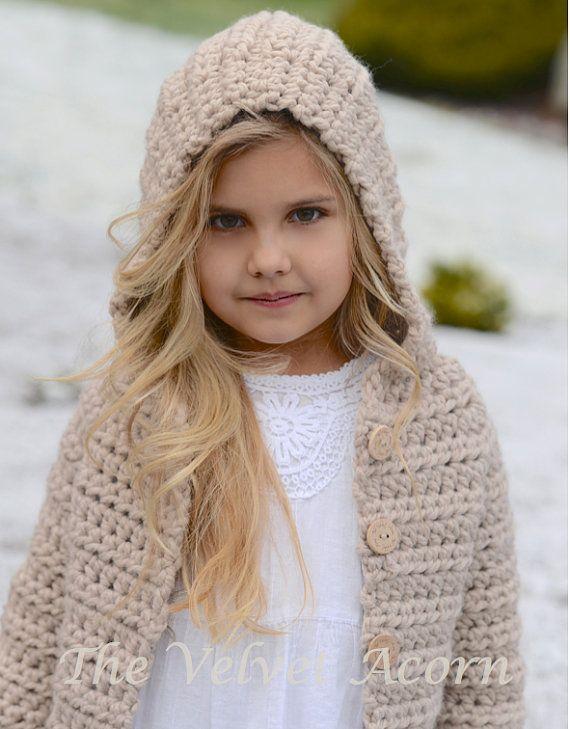 CROCHET PATTERN-The Veilynn Sweater 2 3/4 5/7 8/10 11/13
