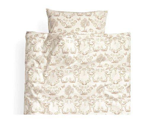 toddler bedding twin duvet quilt cover 2pc set fawn rabbit squirrel print 100 cotton