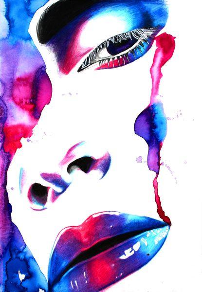 Amethyst by beautywithanedge http://society6.com/beautywithanedge/Amethyst-c2S_Print: Watercolor Stuff, Amethysts, Beautywithanedge Repin, Posts, Lips, B L A C K O R C H I D