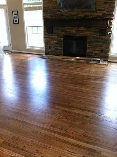Red oak with duraseal special walnut stain bona traffic for Wood flooring specials