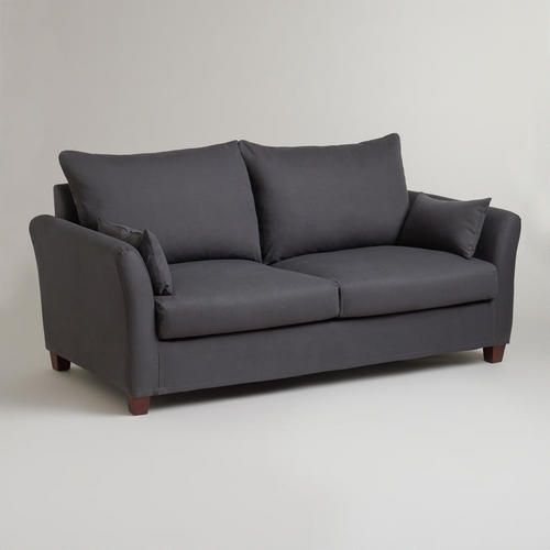 One of my favorite discoveries at WorldMarket.com: Charcoal Luxe Sofa Slipcover