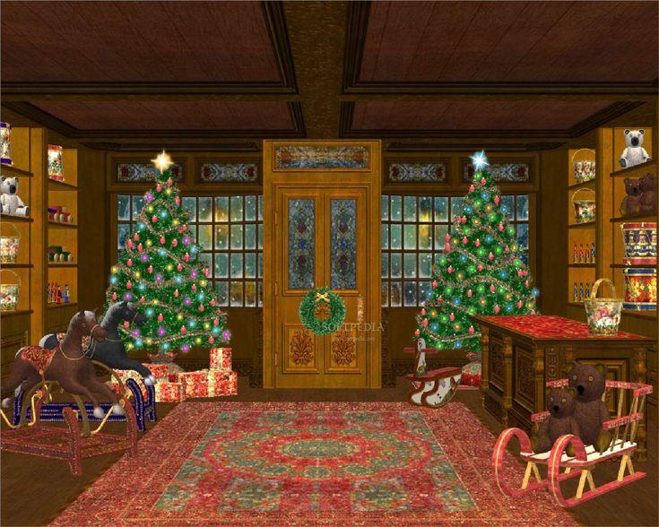 Animated Christmas House | Animated Christmas Screensavers hd | Wallpapers High Definition ...