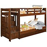 Chelsea Home Furniture 361544-S Twin Over Twin Reversible Stair Bunk Bed with Underbed Storage 60