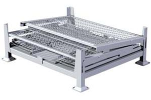 ITEM #154 – KNOCK DOWN, 2 GATE, WIRE MESH STEEL BIN SKU: KD2GW-01. Category: New Bins / Baskets.  - Size: 40 1/2″ x 34 1/2″ x 32″ Overall Height  - Load Capacity: 3200 lbs.
