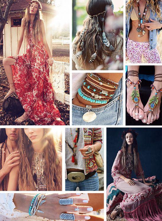 Стиль хиппи в одежде для девушек - почувствуй себя свободной