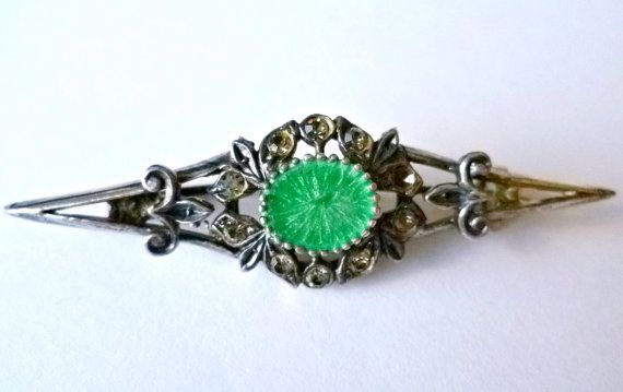 ITALIAN VINTAGE Antique Silver 800 Brooch Pin by DomusVintage
