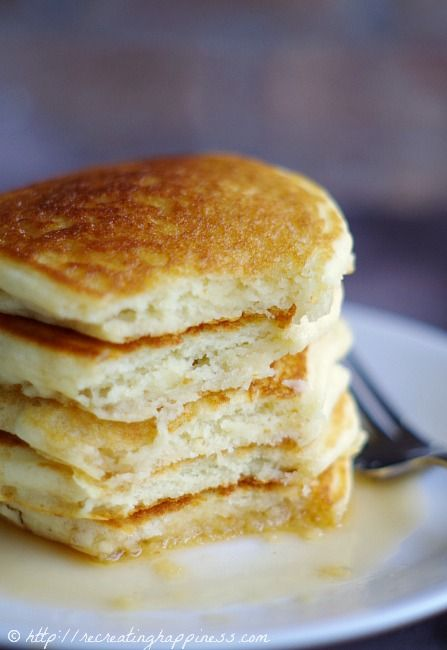 Gluten Free Pancakes recipe by recreatinghappiness: Light and fluffy. #Pancakes #GF