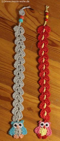 "Crochet instruction – Bookmark owl ""Minchen"" gift idea – Connie Hooper"