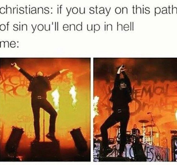 Ok so this is funny but I'm a Christian and I'm also mcr trash  and bisexual so just saying not all Christians are the same....
