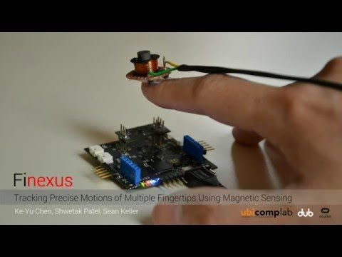 Magnets Attached To Fingertips Used For Tracking In Virtual Reality