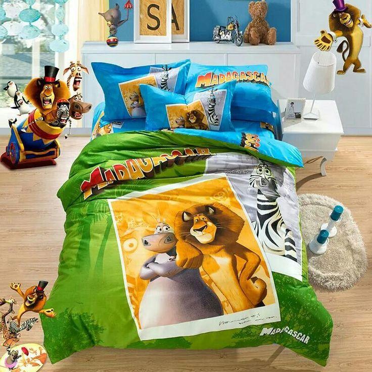 Madagascar Kids bedding sets, Toy story bedding, Kids