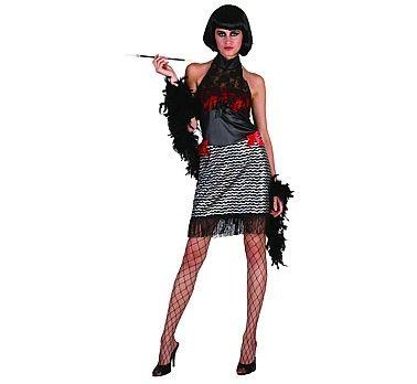 Strój karnawałowy dla kobiety Dama z baru. Doskonały na imprezę w stylu lat XX-tych.