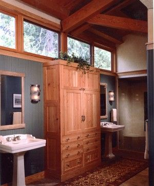 Adirondack Spirit rustic bathroom