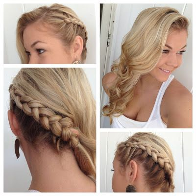 Neat idea to pull all hair to one side. Still gives the other side some visual interest.