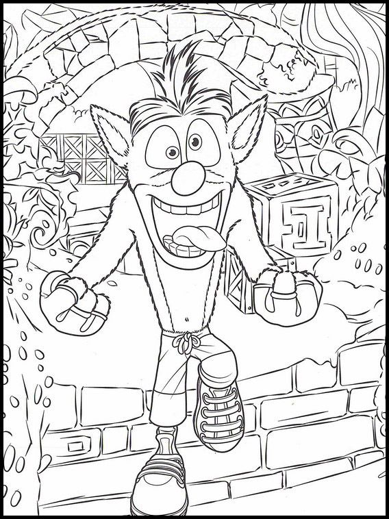 Crash Bandicoot 22 Printable coloring