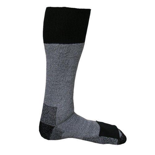 Heat #Factory Merino Wool #Socks with Toe Heat Warmer Pockets, Large Made by #Heat Factory Color #Grey. Above-calf length Merino wool sock provides protection and long-lasting warmth to your feet and legs in cold outdoor activities. Integrated pockets over the toes hold heat warmers; includes two Heat Factory foot warmers that last up to six hours each. Medium fits men's US shoe sizes 5-8, women's US shoe sizes 5-10; Large fits men's US shoe sizes 9-13, women's US shoe sizes 11-12