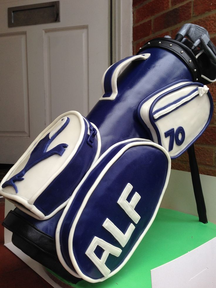 Standing Golf Bag Cake Tutorial