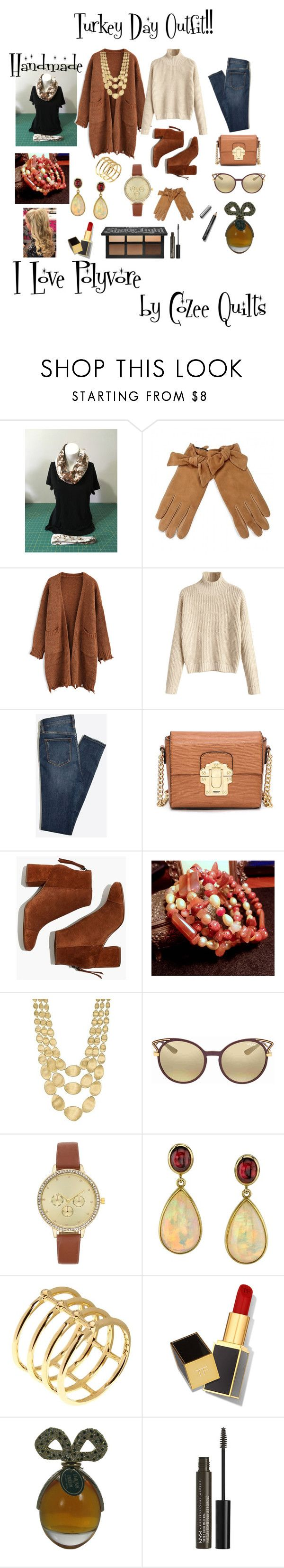 """Fleece Infinity Scarf and Carnelian Wrap Bracelet"" by bamasbabes ❤ liked on Polyvore featuring Chicwish, Madewell, Marco Bicego, Vogue, Sarosi by Timeless Gems, Elizabeth and James, Tom Ford, NYX and Burberry"