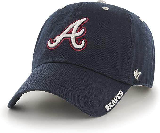 Mlb Atlanta Braves Ice Adjustable Hat In 2020 Atlanta Braves Hat Atlanta Braves Mlb Baseball Caps