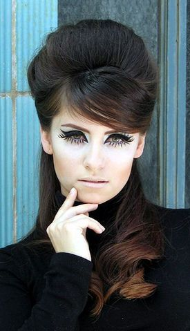 60s retro hair and makeup. My eye makeup when my loving grandma told me I looked like a hooker