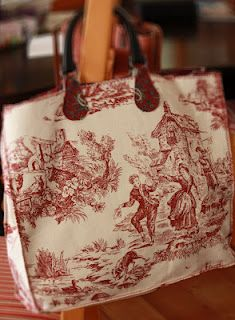 Toile Tote. Just made a similar one!