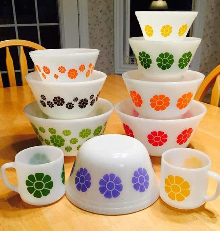 Beau Federal Glass   Daisies · Vintage KitchenwareVintage ...