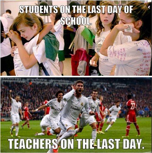 The last day of school--a comparison