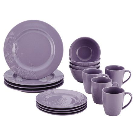 Refresh your tablescape with this lovely stoneware dinner set, showcasing a textured paisley-inspired motif for charming appeal.   P...