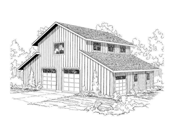 25 best ideas about garage plans with loft on pinterest for Gambrel barn plans with living quarters
